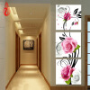 YGS-139 DIY Full Diamonds Embroidery Triptych flowers roses vertical version Round Diamond Painting Cross Stitch Diamond Mosaic soft thick cool pattern cotton 2 adjustable bass acoustic electric folk guitar strap with leather ends