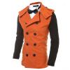 Мужчины Зима Повседневный двубортный Ветровка куртка 2014 осень новый стиль размер женщин тенденция двубортный женщин ветровка куртка заводская цена