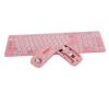 Беспроводная клавиатура мышь комплект девушка мило мультфильм мини-компьютер беспроводная клавиатура мышь периферийного оборудован комплект клавиатура мышь hp lv290aa