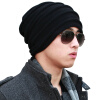 CACUSS WOOL KNIT HATS MEN ДВУХМЕСТНАЯ ПОВЕРХНОСТНАЯ КОСТЮМА HATING CAP Unisex Winter Hat Black Front - Темно-серый Z0081 2017 winter beanies solid color hat men women plain warm soft beanie unisex skull knit cap hats knitted touca gorro caps mens f3