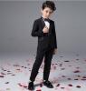 Мальчик досуг черный костюм куртки детской одежды четыре кусок костюм кольцо предъявителя костюм костюм