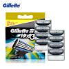 Подлинная Gillette Mach 3  для Бритья Лезвия Для Мужчин Лезвия С 8 Лезвия лезвия для бритья rapira