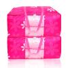 Шэн шелк до сих пор товар хранения отделка мешок одежды одеяло хранения мешок визуальный 2 штуки розовый солнце цветок 85L janome 1143