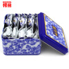 10BAGS/ box China anxi tieguanyin oolong tea tie guan yin luzhou-flavor tieguanyin tea premium with blue and white porcelain gift specaily oolong tea tie guan yin 500g arbitraging premium tea corner fujian anxi oolong tea for weight loss products set