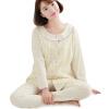 Любовь отцовство костюмы одежда материнство пижамы пижамы материнства одежда домашняя одежда кардиган M302 желтый l
