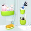 [Супермаркет] Jingdong высокого млрд EKOA стеллажи Чашки зубная паста, зубная щетка держатель мыльница ванной четыре комплекта яблочного зеленого моды индийская зубная паста meswak