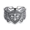 Хао Экстремальный Silver (HAOZHIZUN) Рыцарь кольцо S925 серебро кольцо мужчин ретро тайский серебряный крест кольцо кольцо ювелирных изделий ювелирных аксессуаров