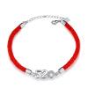 Maltia 925 серебряный красный канат пара браслет