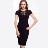 Hot Sale High Quality Cheap Women Dress Fashion Casual Short Sleeve Pencil Dress O-Neck Empire Autumn Dresses 2015 petcircle 2 xxs xs s m l 29683858