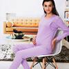 Aibo отцовство одежда беременных женщин кормящих одежды осенняя одежда брюки костюм беременных женщин пижамы стороны открытой груди M305 фиолетовый XL брендовая одежда