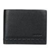 Пугало мексиканских мужчин кожаный бумажник Минималистский мужской сечение кошелек кошелек мужской бизнес MNY30632M-03 Black