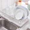 [] Jingdong полки супермаркета пространство студия двойной слив из пластика и столовые приборы кухни сушилка сушилка для сухого хранения корзины слива корзины KF0318