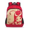 Сумка школы Конфуция 1 - - 6-й класс Начальная школа Студенческая сумка Холст Серия Детская сумка K505 Красная сумка что нужно для школы 6 класс список