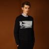 где купить Magicpower мужская с длинными рукавами свитер Nordic серии с длинными рукавами черный свитер MGW0756280 L по лучшей цене