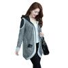 Женская мода пальто куртки Женщины Zipper Hoodie Верхняя одежда