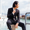 YOMS костюмы мужской корейской версии Тонкий малый костюм длинный рукав бизнес-платье платье профессиональное платье пальто черный XXL 185 осень зима мужские спортивные костюмы lamborghini тонкий с капюшоном случайные корейской версии текущего мужской свитер кардиган пальто
