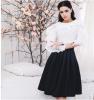 новые 2016 высококлассная моды женщин черного и белого кружева рубашку длинные рукава a-line платья мини - платье! платье conquista платья и сарафаны мини короткие