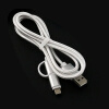 Nylon Braided 2 in 1 High Speed Sync Data Micro USB Charging Cable Line For iPhone 7 6s Plus Android 580197 flat micro usb male to usb 2 0 male data sync charging cable for samsung more white 200cm