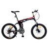 Phoenix Складной горный велосипед 20 дюймов амортизирующий 21-скоростной двухдисковый тормозной горный велосипед