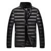 Антарктических мужской моды Корейский бейсбол куртка воротник 90 белая утка вниз теплый пуховик черного цвета 1902 L
