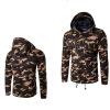 Зима Хлопок Открытый камуфляж Multi-карман Мужские пальто Hoodie мужские пальто осень зима в москве
