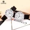 Comtex Марка Мода пару часов кожа кварцевые наручные часы мужские часы женские часы роскошные золотые часы женские кварцевые стальные наручные часы повседневные женские наручные часы женские часы