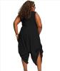крупных женщин размер женская одежда цельный брюки Rompers женская одежда