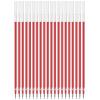 Эффективный (дели) 6901 Красный 0,5 мм иглы картридж половина геля / ручка / ручка пополнения 20 установлена ручка waterman s0952360
