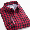 2016 Men Shirt Long Sleeve Casual Plaid Shirts Slim Fit Fashion Male Camisa Masculina Colorful Shirt Men Casual Shirt Plus Size men s cowboy jeans fashion blue jeans pant men plus sizes regular slim fit denim jean pants male high quality brand jeans