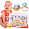 прорезыватели погремушки (MING TA) детские погремушки прорезыватели ребенок новорожденный раннего детства обучающие игрушки восемь комплектов подарочных коробок
