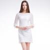 TMI-весенний день корейская версия тайны женщин из жаккарда кружево платья рукава белого L 161 050