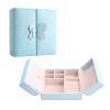 Она США в Европе жены хранения принцессы коробка ювелирных изделий коробка ювелирных изделий подарок идеи для отправки 520 подарка двойного открытого бабочка ожерелье браслет кольца коробок Черри Пинк SH003
