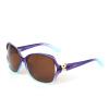 Любовь (LianSan) поляризованные солнцезащитные очки женская рама большая мода зеркало зеркало зеркало зеркало 6210 градиент фиолетовый зеркало уют