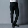 YOMS мужские повседневные брюки мужские хлопчатобумажные прямые брюки корейской версии сплетенные одноразовые брюки из чистого цветного прически мужские брюки 02264 черный XXL185 yoms мужские повседневные брюки мужские хлопок повседневные повседневные брюки мужские брюки
