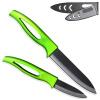 XYJ Марка Зеленый Ручка Керамический нож Набор 3, 5 дюйма Ножи кухонные резаком Нож для нарезки Кулинария Инструменты ножи сувенирные maskbro охотничий нож зеленый