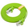 Фото Jinghua (JH) 0507 высокоскоростной ультра-пяти сетевой кабель оригинальный сетевой кабель плоский витая пара кабель с хрустальной головкой сто триллион сетевой кабель домашнее улучшение компьютер универсальный джемпер 1 м зеленый кабель