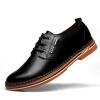 Мужская кожаная обувь для детей в пресентере Бизнес повседневная обувь Мужская группа Англии Низкая нижняя обувь для мужчин Мужская 5588 Black 42 ярда обувь для детей