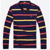 Бейджи Ронг Bejirog майка мода мужская с длинными рукавами полосатой рубашке 16001BJ3503 красный 3XL LOLO