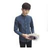 где купить Zhuo Shishu с длинными рукавами рубашка молодежная мода мужской случайные с длинными рукавами рубашка дикая рубашка 2022-CS38 серый XL по лучшей цене