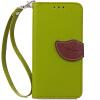 Зеленый дизайн Кожа PU откидная крышка бумажника карты держатель чехол для Apple iPhone 7 черный дизайн кожа pu откидная крышка бумажника карты держатель чехол для apple iphone 7