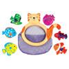 Дети нечетных Ч Чин ребенок раннего детства обучающие игрушки K для детей 3-х лет ребенок рыбалки игрушки ванны игрушки - кошка Ми barneybuddy barneybuddy игрушки для ванны стикеры замок принцессы
