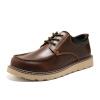 OKKO инструментальная обувь мужская большая обувь обувь Британская наружная повседневная обувь круглый толстый нижний обувь обувь обувь 8763 коричневый 42 ярдов chernika одежда