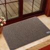 американский сайт (LIDIMEI) два цвета шелка круг коврик домой коричневый рис коврики Doormat гостиной экологически чистый ПВХ резиновой основы колодки 80 * 120см