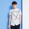 Semir с короткими рукавами рубашка с короткими рукавами рубашка летний мужской воротник воротник простой печати рубашка 13216041280 отбеливатель XL