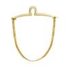 Yoursfs® Classic Gold Color Tie Фиксированная цепочка для мужчин Позолоченные линк-цепочка для связывания с цепочкой цепочка