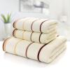 Zi шелк хлопок трехсекционный полотенце хлопок полотенце банное полотенце толстый мягкий и абсорбент (2 полотенца + 1 банное полотенце) Smart Series Бежевый полотенца банные pastel полотенце банное сакура