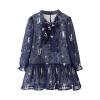 где купить  Cicie детская одежда для девочек дамы шифон с длинным рукавом темно-синий платье Sub 171 013 140  по лучшей цене