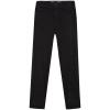 Meters / bonwe Женщины Высокие талии Пуленепробиваемые ковбойские длинные брюки Да Черный 155 / 64A