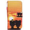 Beaver Дизайн Кожа PU откидная крышка бумажника карты держатель чехол для IPHONE 5 цветочный дизайн кожа pu откидная крышка бумажника карты держатель чехол для iphone 7g