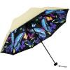 рай зонтик (UPF50 +) двойной карамболь виниловые бабочки летать сложенный зонтик зонтик 31818E бежевый upf50 rashguard bodyboard al004